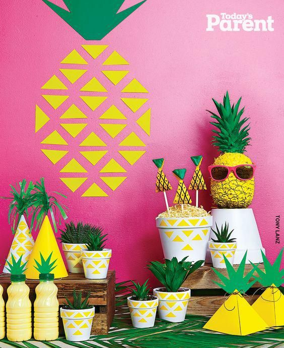 decoracion de fiestas- fiesta piña Todays parents