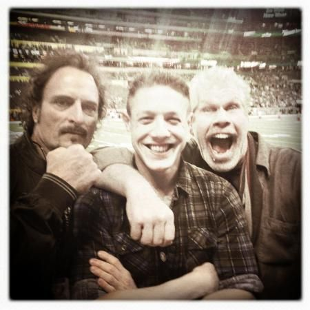 Tig, Juice and Clay at the 49ers game against the Ravens  #SAMCRO