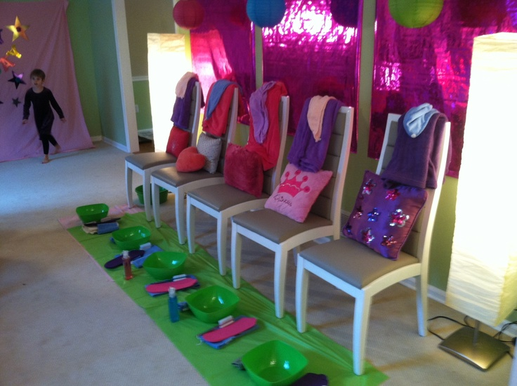 Mini Pedicure Station Setup Mobile Spa Party Hosted By