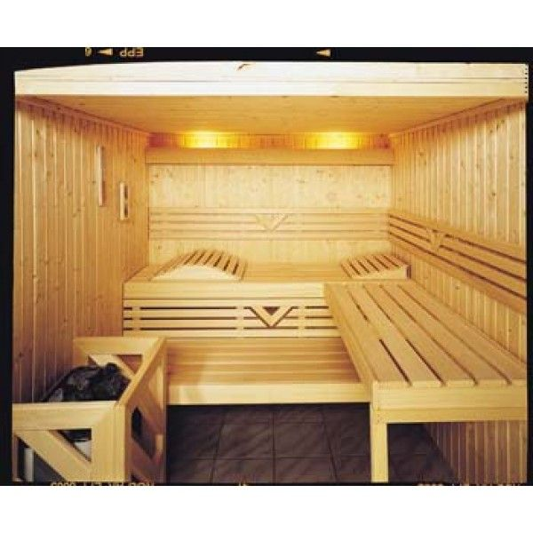 western red cedar in finland?   Custom Sauna Kit with Optional Indirect LED Strip Lighting Package