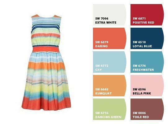 The dress original color chips