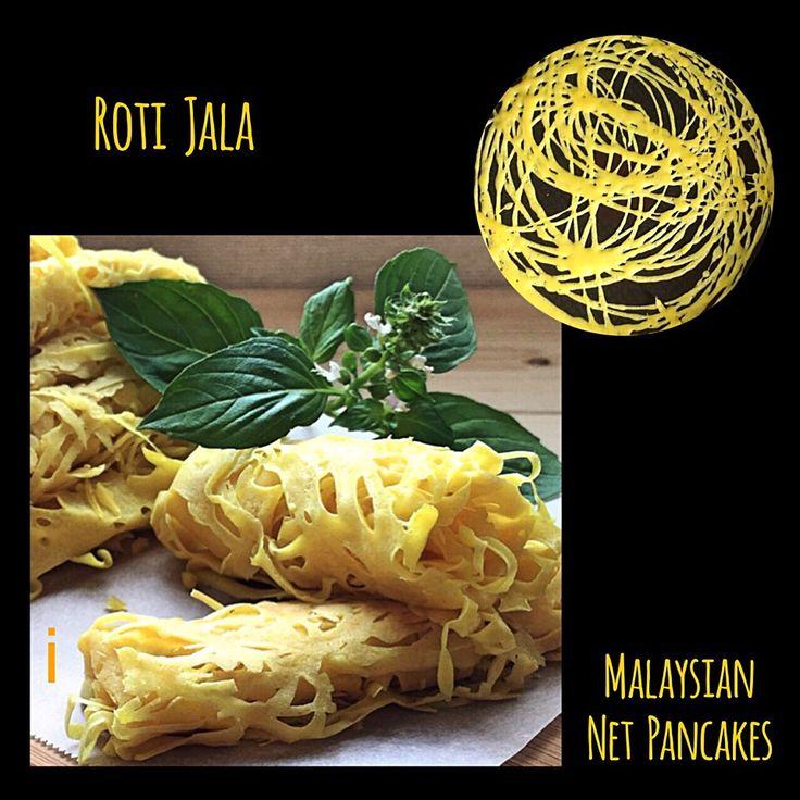 izoom's dish photo ロティ ジャラ  Roti Jala   Malaysian net pancakes | http://snapdish.co #SnapDish #レシピ #エスニック料理 #夏に勝つエスニック料理大募集♪ #ドーナツ/クレープ/パンケーキ #マレーシア料理