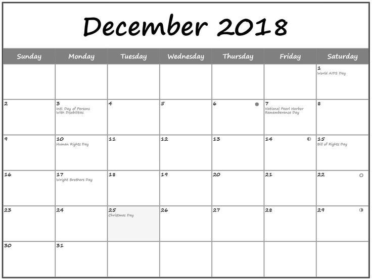 December 2018 Holidays Calendar Template December 2018 Calendar