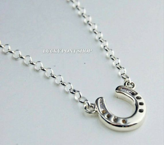 Check out this item in my Etsy shop https://www.etsy.com/listing/264087998/horseshoe-necklacesterling-silver