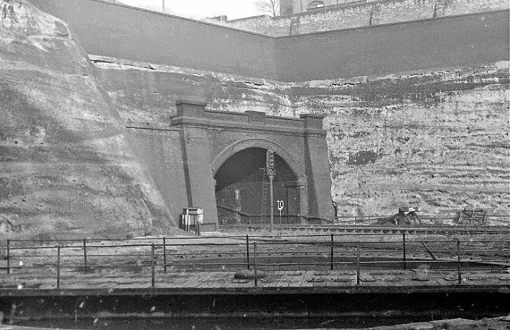 Victoria Railway Station Tunnel at time of demolition of Station 1967