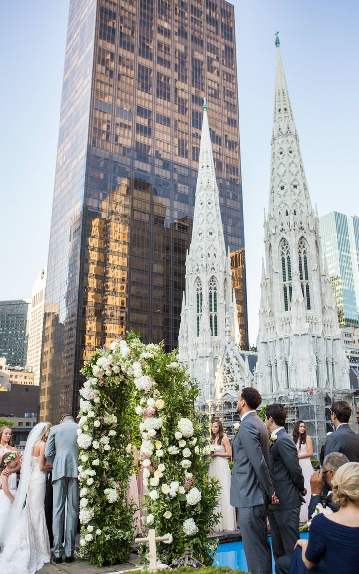 Rooftop wedding venues in nyc - A Chic New York City Wedding