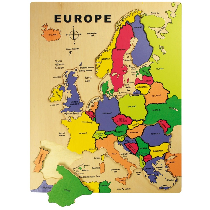 This smart and retro effect European map puzzle is perfect for early learners to develop their coordination, dexterity and geographical awareness! The simple shapes and bold colours make this an unusual and eye catching piece and it will endure for years as a fun and educational activity to be enjoyed alone or with others. Why not see if you can move the countries around and see how they might look if they were elsewhere?!