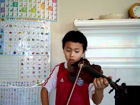 """Castle in the Sky (violin); son playing the theme song from the movie """"Castle in the sky"""". Piano accompany arranged & played by Mother. (映画「天空の城ラピュタ」 より 「君をのせて」) ラピュタが大好きな息子です。 アメリカ人のバイオリンの先生に、どうしてもこの曲を弾きたいと訴えて、実現しました。 先生はもちろんこの曲をご存知ありませんでしたが、聴いて覚えてくださいました。 先生と息子で相談しながら楽譜を作成し、練習しました。 ピアノ伴奏 アレンジ&演奏 by母 —See more of this young violinist #from_TwinkleViolin0605"""