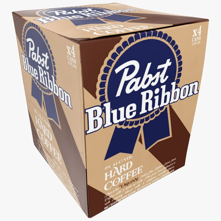 PBR 3d model Package that contains Pabst Blue Ribbon