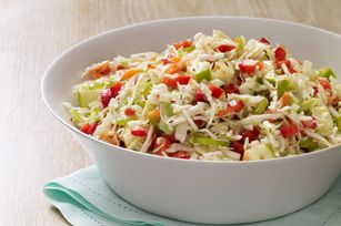 Made this for a family gathering, went well with pork and beef.   Sweet & Sour Slaw recipe