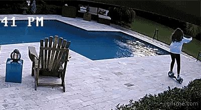 Share this Hoverboard pool epic fail Animated GIF with everyone. Gif4Share is best source of Funny GIFs, Cats GIFs, Reactions GIFs to Share on social networks and chat.