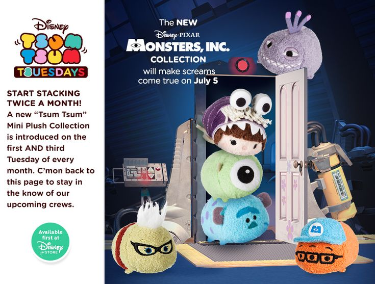 Monsters Inc Tsum Tsum Collection Coming Soon