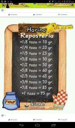 Medidas y equivalencias : HARINA