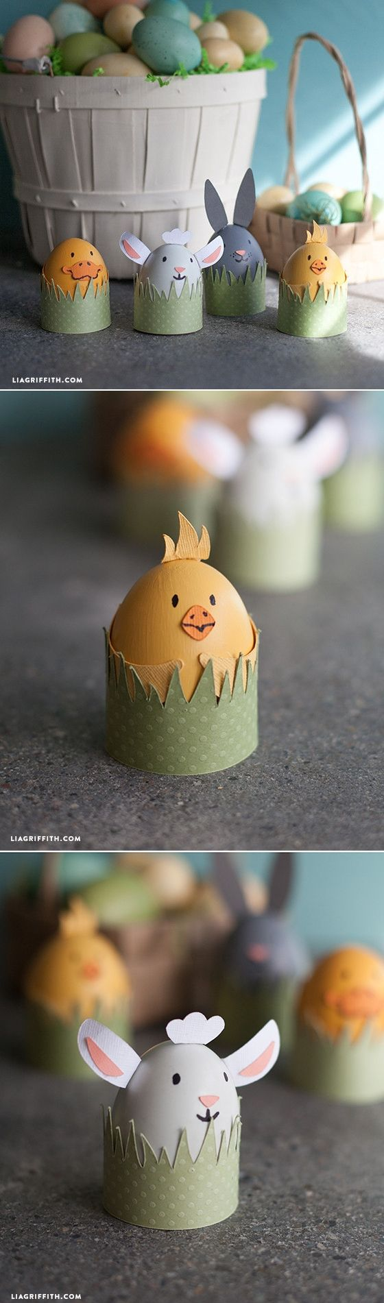 #EasterCraft #KidsCraft #EasterDecorations at www.LiaGriffith.com - created via http://pinthemall.net