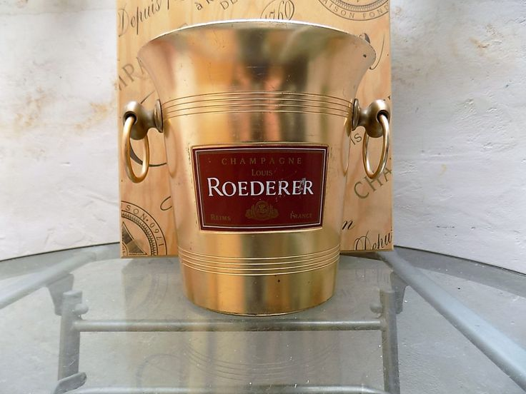 Roederer Champagne Ice Bucket, Vintage Roederer Champagne Cooler,  Retro, Gift Idea, Xmas Gift Idea, Novel Gift Basket Idea. Housewarming. by FabFrench on Etsy