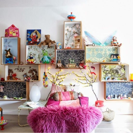 the boo and the boy: eclectic rooms I adore the boxes/drawers as shelves. I'M DOING THAT!