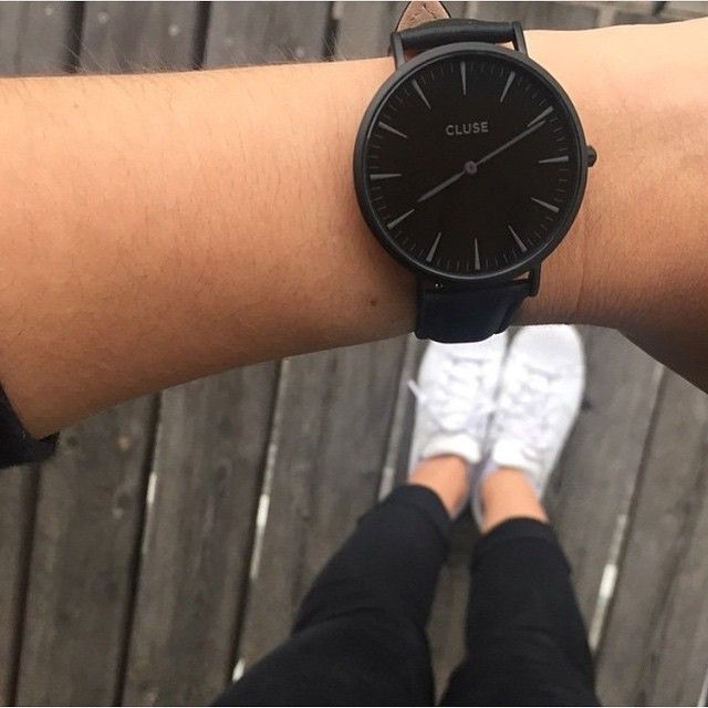 Life in black and white #cluse #watch #minimal #monochrome