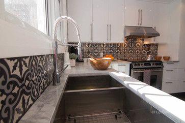 Cement tiles backsplash contemporary kitchen (http://www.hugotiles.com/portfolio-items/cement-tiles-backsplash/)