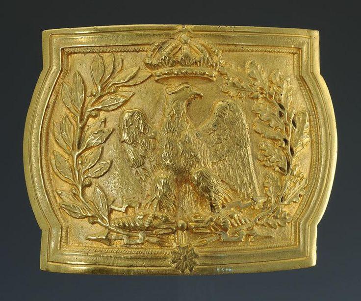 COPIE D'UNE PLAQUE DE CEINTURON D'OFFICIER DES GRENADIERS À PIED DE LA GARDE IMPÉRIALE, MODÈLE 1804, PREMIER EMPIRE.