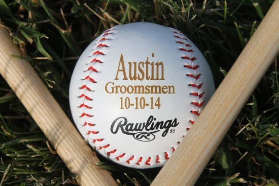 Groomsmen Gift Personalized Baseball Custom by UrbanCustomDesigns Only $10 Today!