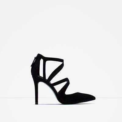Image 1 of CROSSOVER LEATHER HIGH HEEL SHOES from Zara
