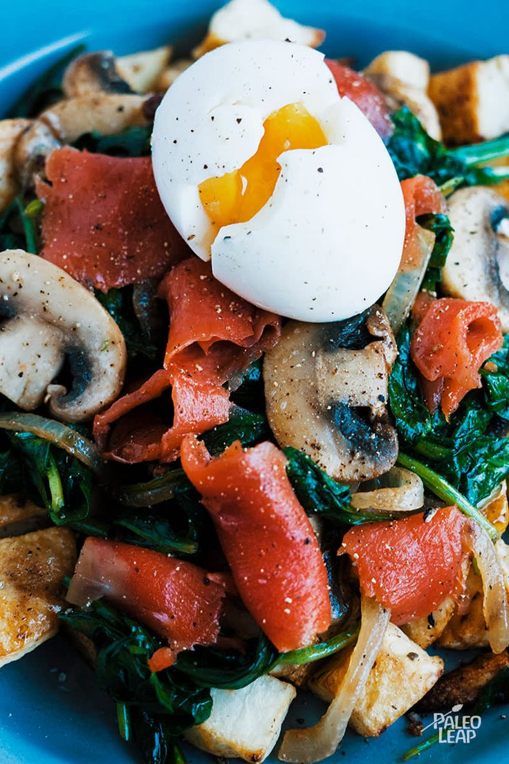 Smoked Salmon And Spinach Breakfast #paleo