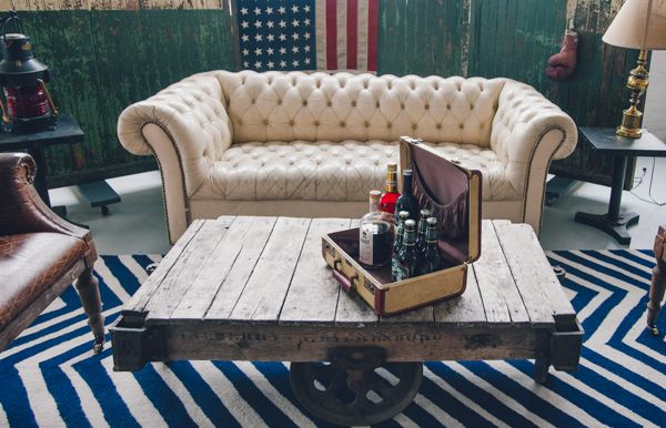 groom area  Designed/Planned by Jove Meyer Events Photographed by Amber Gress  Furniture Rentals by Patina Rentals