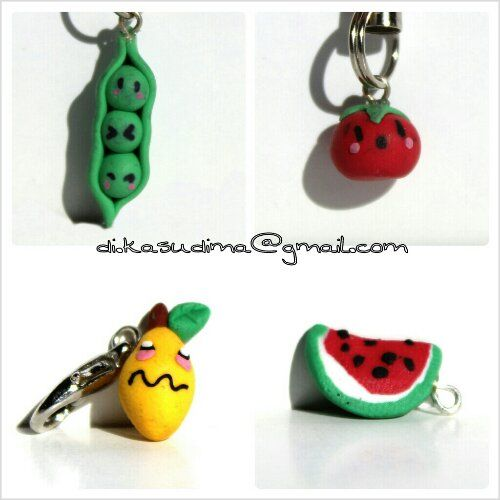Kasudima Tiny frutas y verduras en fimo