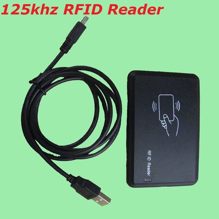 Lector Inteligente de Tarjetas De IDENTIFICACIÓN de Proximidad RFID 125 KHZ EM4100 USB Leer No requiere Software ni Necesidad de Unidad Para El Sistema de Control de Acceso de la Puerta a prueba de agua