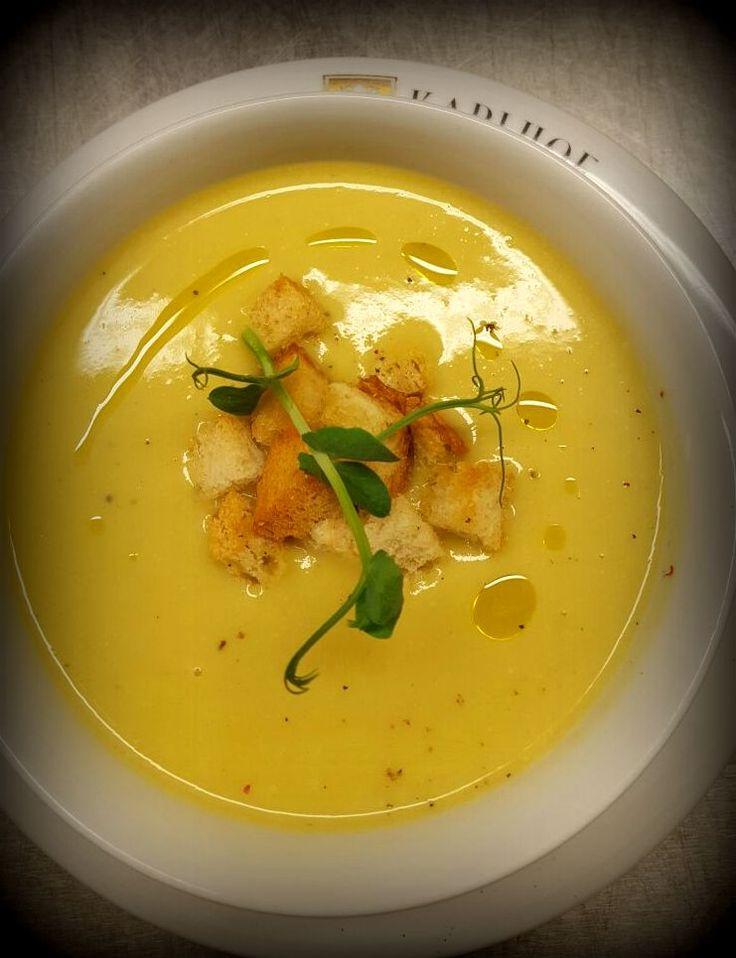Leeks cream soup