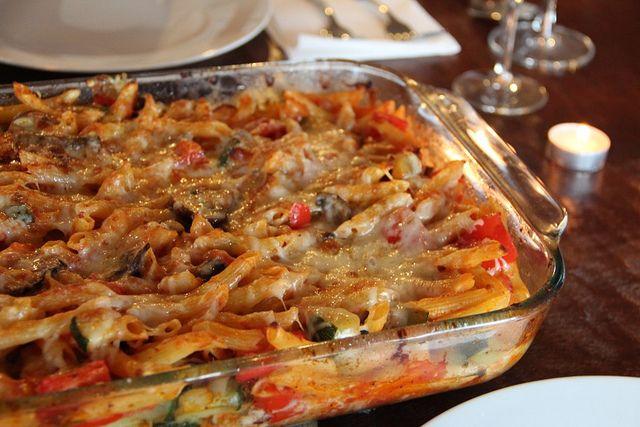 Baked Penne with Roasted Vegetables (Recipe courtesy Giada De Laurentiis)