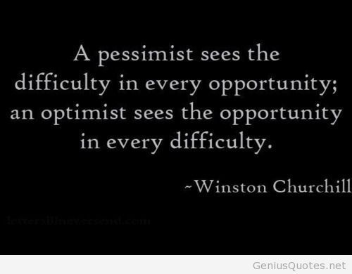 A pessimist quote Wiston Churchill