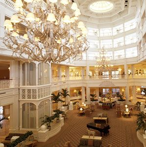 Lobby of Grand Floridian Resort