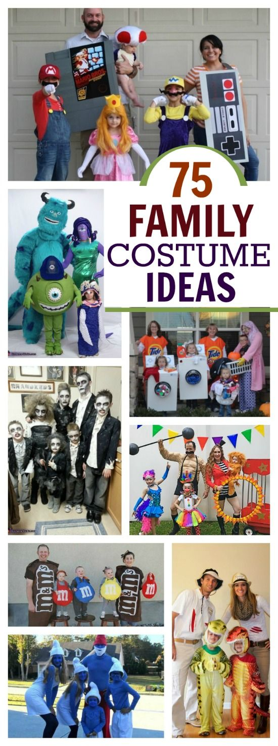 75 AWESOME Family costume ideas for Halloween - people are so creative!  I love these!