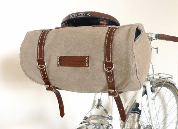Classic Vintage Style Bicycle Bag READY TO SHIP by snootsie