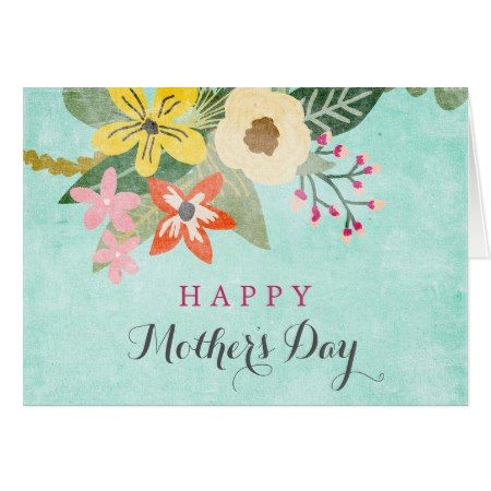 Beautiful Blooms Mother's Day Greeting Card - tap, personalize, buy right now!