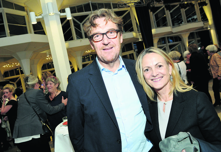 Elise Gug and Niels Kongshaug attending Club Bs  annual fashion show, this year also celebrating 30 year anniversary of Club B
