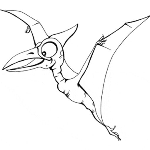 Dinosaurio pterosauria - Dibujo de Dinosaurios para imprimir ...