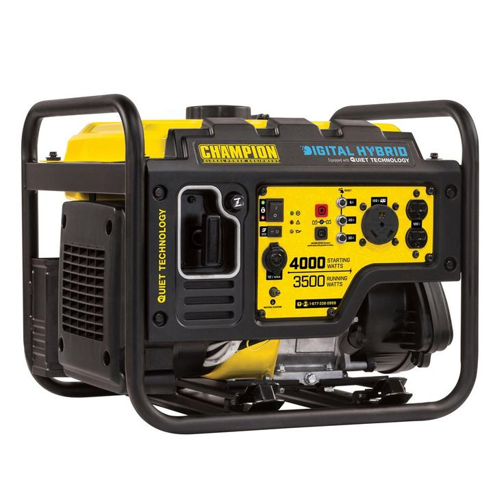 100302 3500-Watt Gasoline Powered Digital Hybrid RV Ready Portable Generator with Quiet Technology