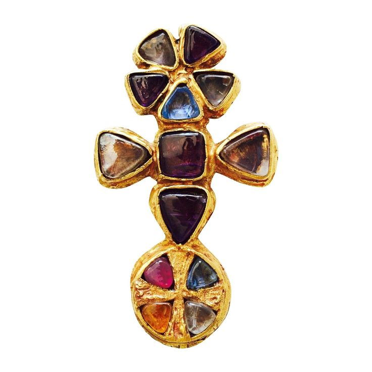 Rare Robert Goossens for Gabrielle Chanel Pendant Brooch ca.1955 | From a unique collection of vintage brooches at https://www.1stdibs.com/jewelry/brooches/brooches/
