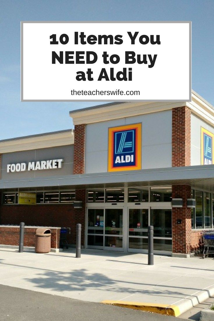 It's no secret that I love Aldi! If nothing else, these are the items you NEED to buy at Aldi.
