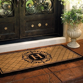 Ascot Coco entry mat with monogram by Frontgate....my new mat!