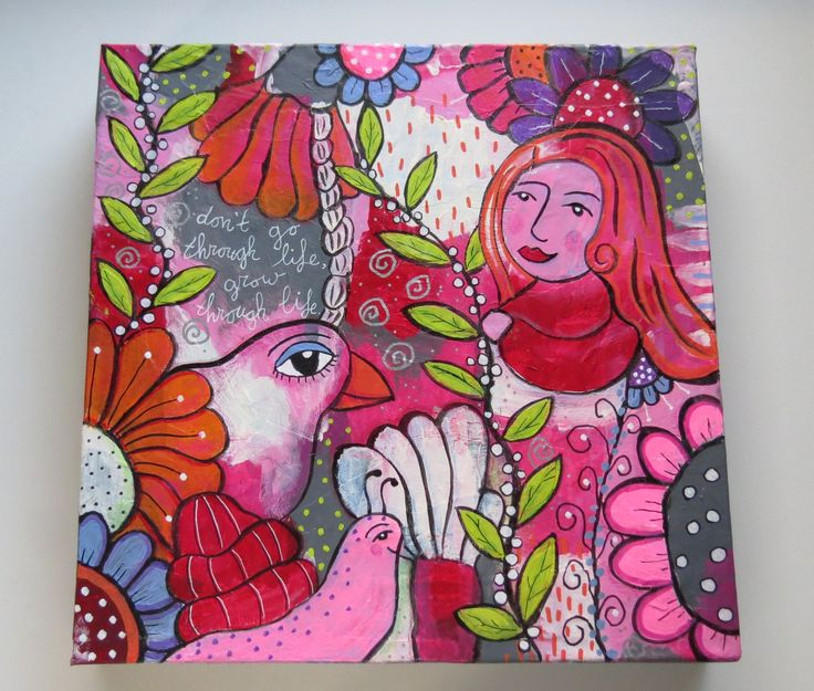 One of my mixed media doodle  paintings