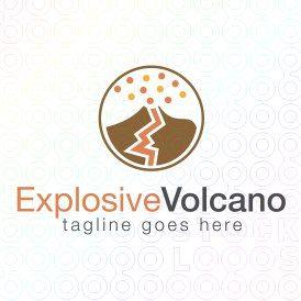 Exclusive Customizable Logo For Sale: Explosive Volcano | StockLogos.com