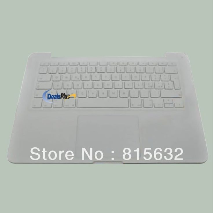 "3pcs/lot 95% NEW FOR Macbook Unibody 13 "" A1342 Top Case & Italian keyboard & Touchpad"