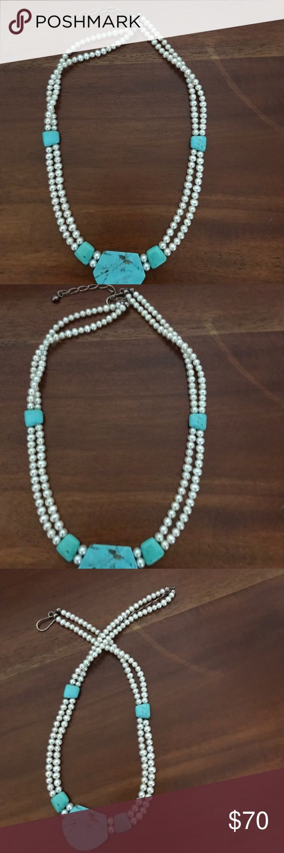 Pearl Teal necklace Brand new without tag. Pearl teal necklace. Very popular!! I had a couple of them. They sold out very quickly. Very rare piece boutique Jewelry Necklaces