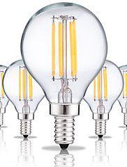 4W+E14+LED+Glühlampen+G45+4+COB+360+lm+Warmes+Weiß+Kühles+Weiß+2200-6500+K+Dekorativ+AC+220-240+V+5pcs+–+EUR+€+16.80