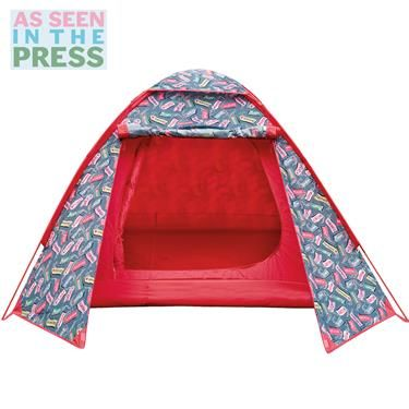 This bright Luggage Tags fully waterproof dome tent will stand out at any festival or campsite. Sleeps 2 adults Matching camping accessories also available.