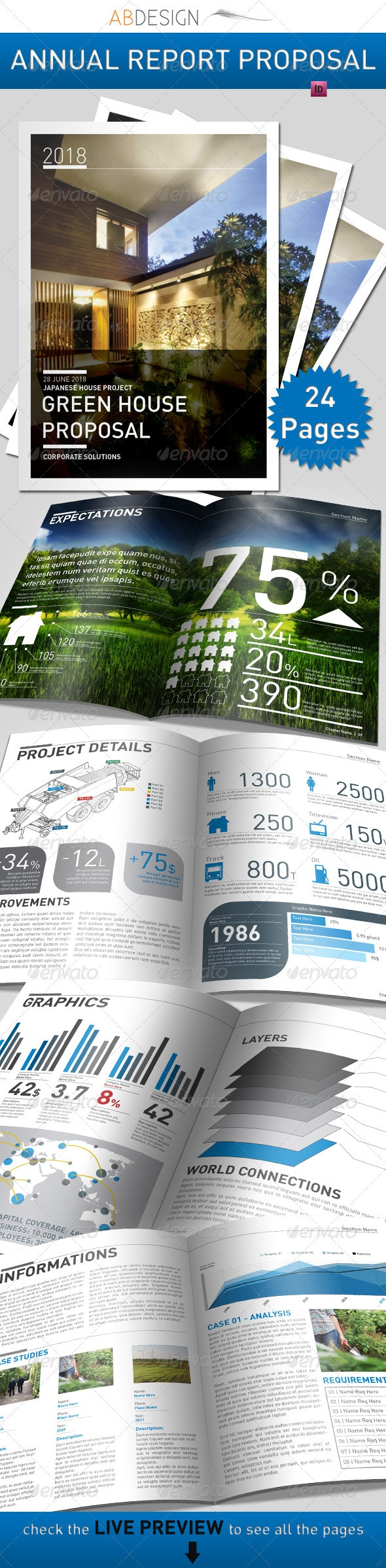 best images about annual report templates clean stat driven multi page template