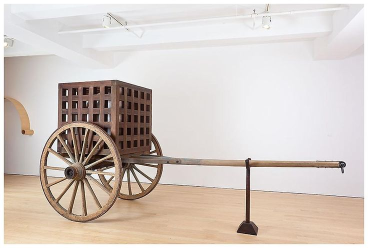 Martin Puryear - The Load 2012 Wood, steel, glass 91 x 185 x 74 inches; 231 x 470 x 188 cm